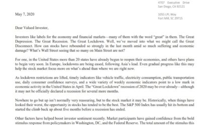 Client Letter | To Go But Up | May 7, 2020