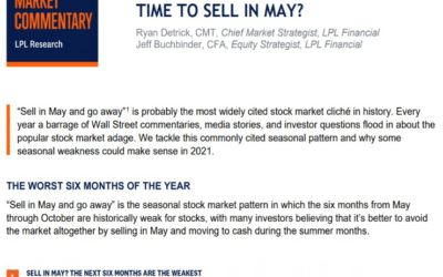 Time To Sell In May?   Weekly Market Commentary   May 3, 2021