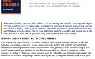 Stock Market Gains Likely To Slow   Weekly Market Commentary   May 24, 2021