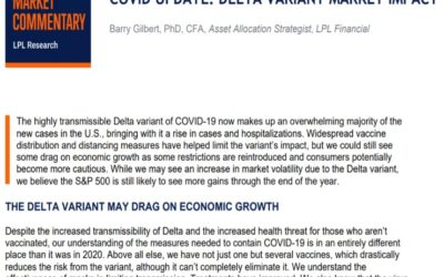 COVID Update: Delta Variant Market Impact | Weekly Market Commentary | August 9, 2021